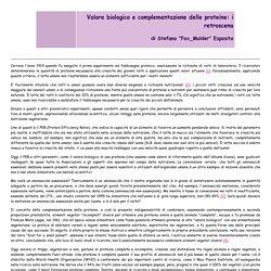 Valore biologico e complementazione delle proteine: i retroscena