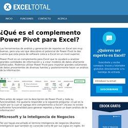 ¿Qué es el complemento Power Pivot para Excel? - Excel Total