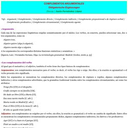 COMPLEMENTOS ARGUMENTALES