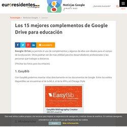 Los 15 mejores complementos de Google Drive para educación - Noticias Google