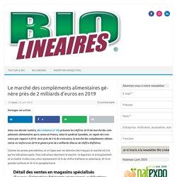 Le marché des compléments alimentaires génère près de 2 milliards d'euros en 2019 - Blog Bio Lineaires