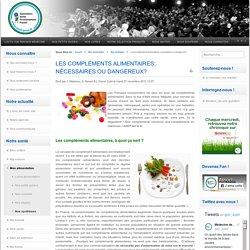 ASEF 27/11/12 les compléments alimentaires : nécessaires ou dangereux? la synthèse de l'ASEF