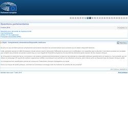 PARLEMENT EUROPEEN - Réponse à question P-002555-14 Compléments alimentaires/Dispositifs médicaux