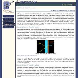 OPUS : Physique 534 : Compléments : Techniques de fabrication des miroirs