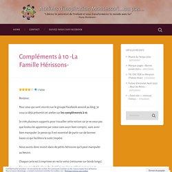 Compléments à 10 -La Famille Hérissons- – Ateliers d'inspiration Montessori…ou pas…