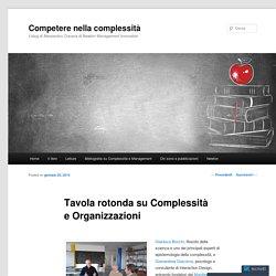 Tavola rotonda su Complessità e Organizzazioni