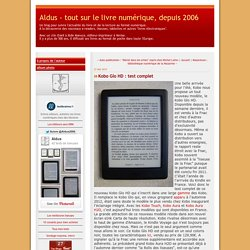 Kobo Glo HD : test complet