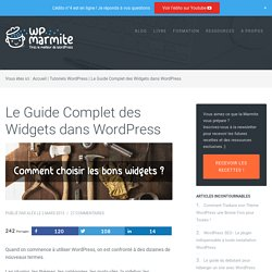 Le Guide Complet des Widgets dans WordPress