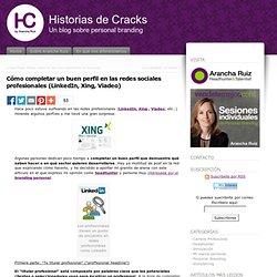 Cómo completar un buen perfil en las redes sociales profesionales (LinkedIn, Xing, Viadeo) « Historias de Cracks