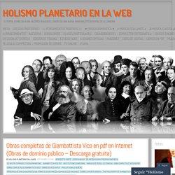 Obras completas de Giambattista Vico en pdf en Internet