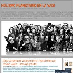 Obras Completas de Voltaire en pdf en Internet