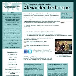 The Complete Guide to the Alexander Technique