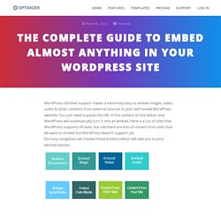 The Complete Guide To Embed Almost Anything In Your WordPress Site