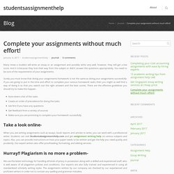 Complete your assignments without much effort!