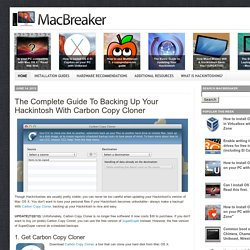 The Complete Guide To Backing Up Your Hackintosh With Carbon Copy Cloner