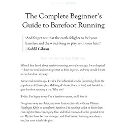 » The Complete Beginner's Guide to Barefoot Running