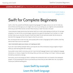 Swift for Complete Beginners – a free Hacking with Swift tutorial