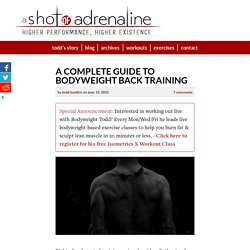 A Complete Guide To Bodyweight Back Training