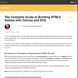 The Complete Guide to Building HTML5 Games with Canvas and SVG