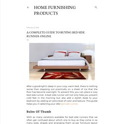 A Complete Guide To Buying Bed Side Runner Online