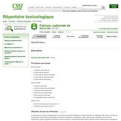 Calcium, carbonate de