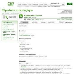 Carbonate de lithium