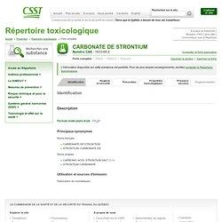 CARBONATE DE STRONTIUM