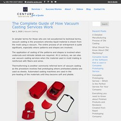 The Complete Guide of How Vacuum Casting Services Work