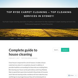 Top Ryde Carpet Cleaning – TOP CLEANING SERVICES IN SYDNEY!