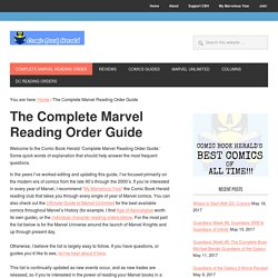 Complete Marvel Reading Order Guide
