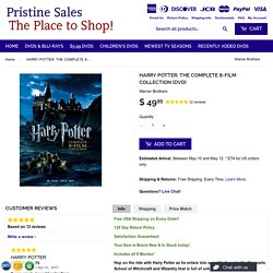 HARRY POTTER: THE COMPLETE 8-FILM COLLECTION (DVD) – Pristine Sales