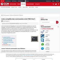 """Liste complète des commandes cmd (""""MS-Dos"""") - Comment Ça Marche"""