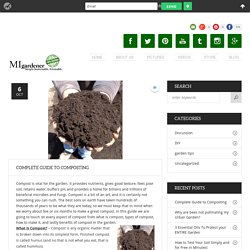 A Free Complete Guide to Composting - MIgardener