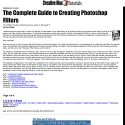 The Complete Guide to Creating Photoshop Filters