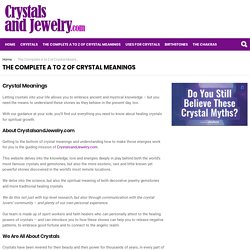 The Complete Guide to Crystal Meanings (2019 Update)