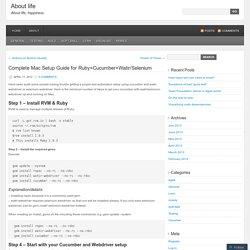 Complete Mac Setup Guide for Ruby+Cucumber+Watir/Selenium
