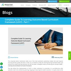 Complete Guide to Learning Outcome Based Curriculum Framework (LOCF) - Part 1