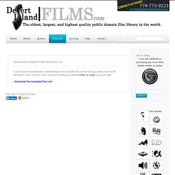 The Complete Desert Island Public Domain Film List