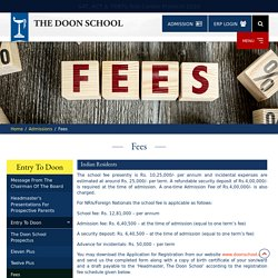 Get Complete Details of the Annual Fees Structure
