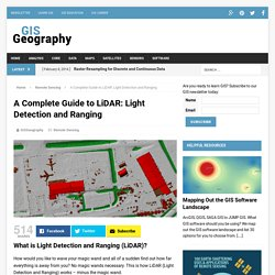 A Complete Guide to LiDAR: Light Detection and Ranging - GIS Geography
