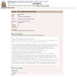 Udemy - The Complete Web Developer (download torrent)