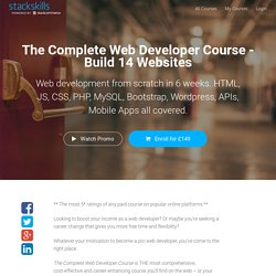 The Complete Web Developer Course - Build 14 Websites