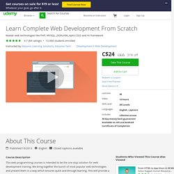 Learn Complete Web Development From Scratch