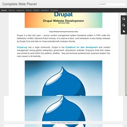 Drupal Website Development Services India