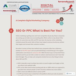SEO Or PPC What Is Best For You?