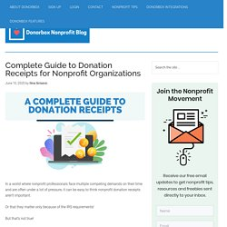 Complete Guide To Donation Receipts For Nonprofits