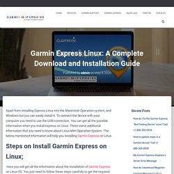 Garmin Express Linux: A Complete Download and Installation Guide