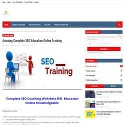 Amazing Complete SEO Education Online Training