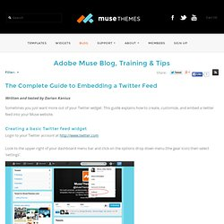 Adobe Muse - The Complete Guide to Embedding a Twitter Feed