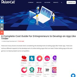 A Complete Cost Guide For Entrepreneurs to Develop an App Like Tinder